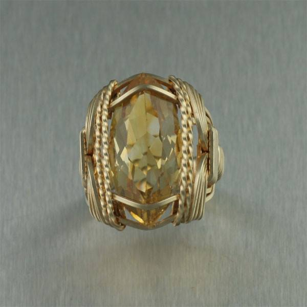 Marquise Cut Citrine 14K Gold-filled Cocktail Ring - johnsbrana - 2