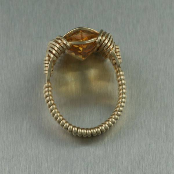 Marquise Cut Citrine 14K Gold-filled Cocktail Ring - johnsbrana - 3