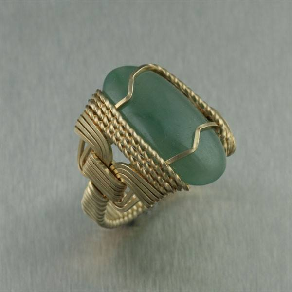 Russian Jade 14K Gold-filled Cocktail Ring - johnsbrana - 1