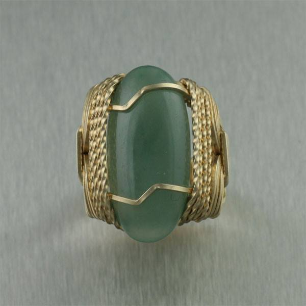 Russian Jade 14K Gold-filled Cocktail Ring - johnsbrana - 2