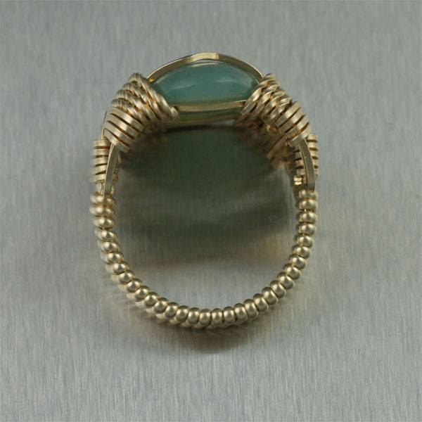 Russian Jade 14K Gold-filled Cocktail Ring - johnsbrana - 3