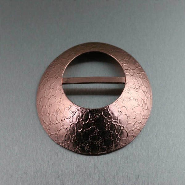 Scarf Rings - Bubble Embossed Copper Scarf Ring