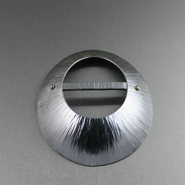 Chased Aluminum Scarf Ring - johnsbrana - 1