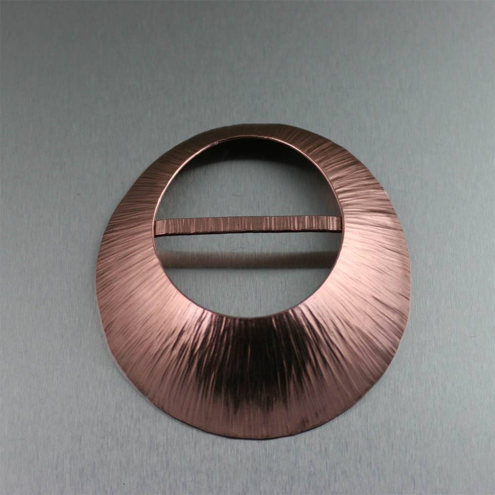 Chased Copper Scarf Ring - johnsbrana - 1