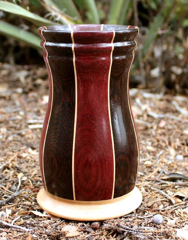 Purpleheart, Wenge, and Maple Tumbler