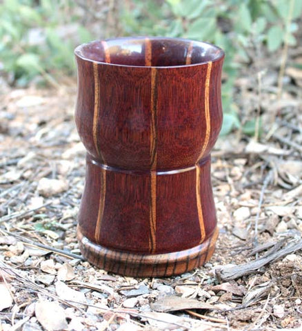 Purpleheart and Zebrawood Tumbler