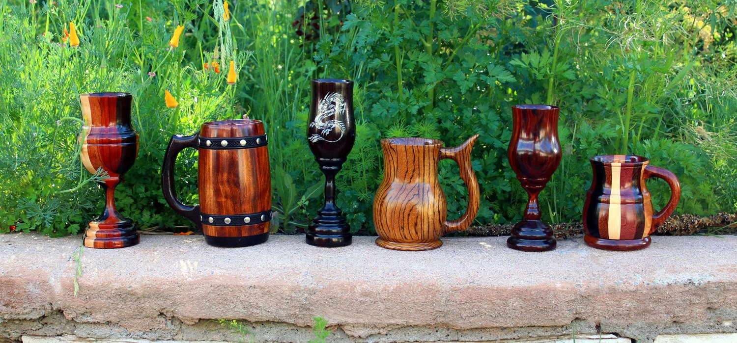 Goodly Woods Wooden Mugs And Goblets