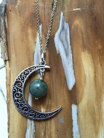 Lunar Pendant/African Turquoise