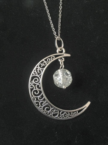 Lunar Pendant/Clear Crackle Crystal