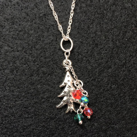 Silver Christmas Tree Pendant