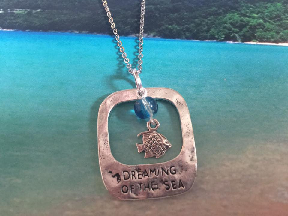 Dreaming of the Sea Silver Pendant (Fish) P1034