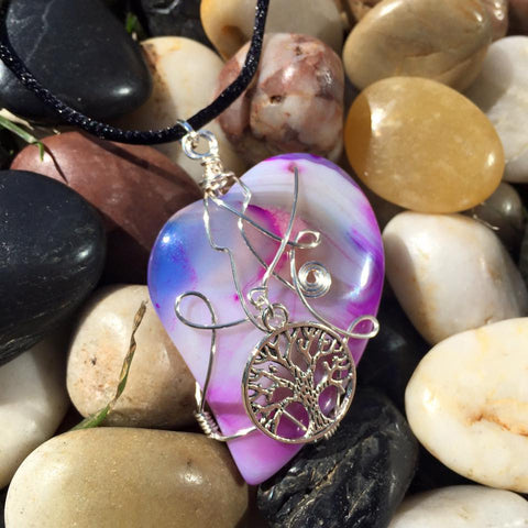 Agate with Tree of Life Pendant PE1033