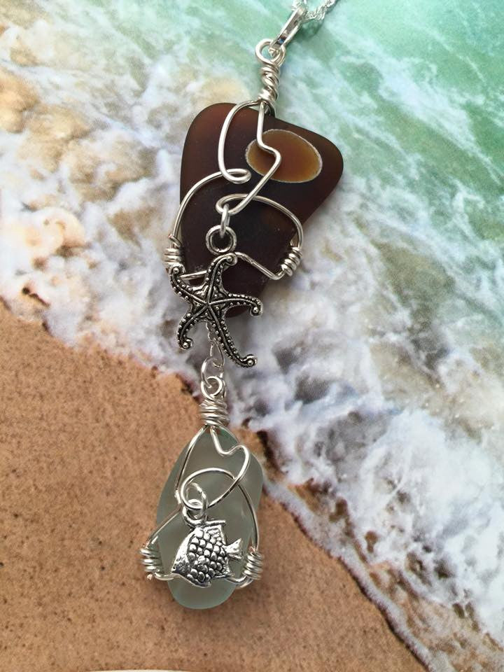 Sea Glass Pendant PE1042
