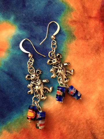 Silver Jerry Bear Earrings