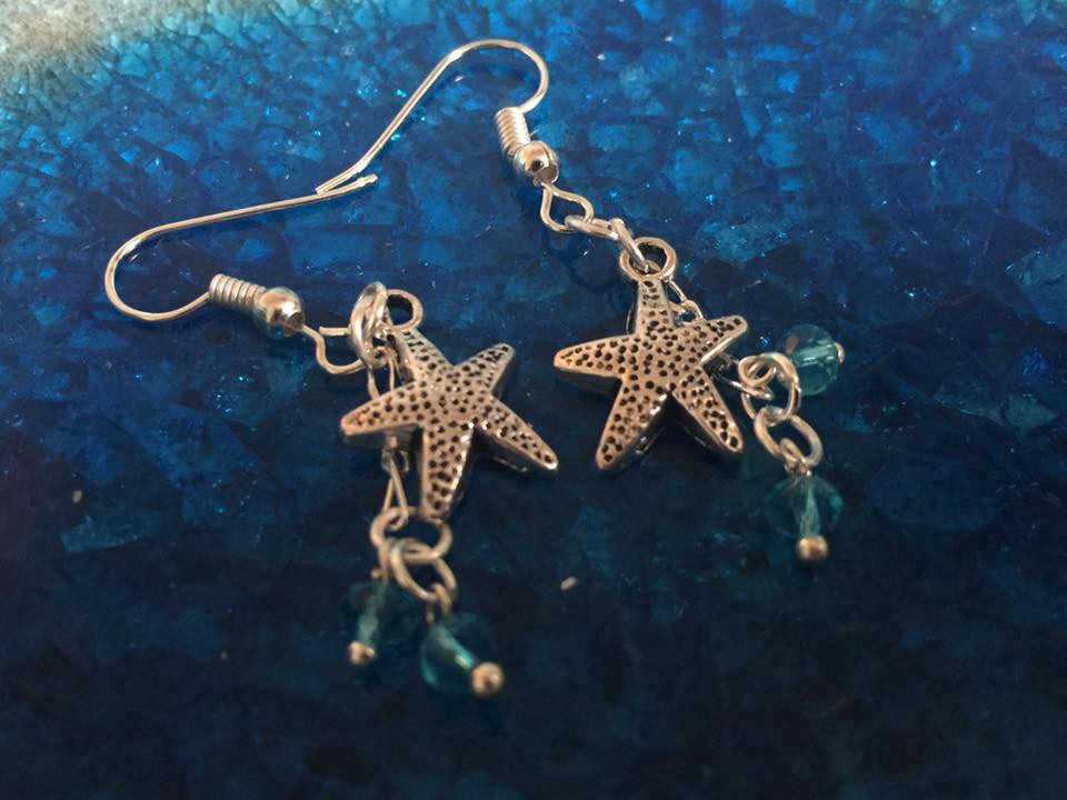 Silver Starfish Earrings SER1063