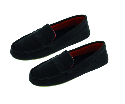 Black moccasin slipper for woman buy online now