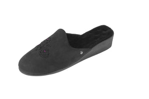Fiited Slip On Velvet slipper Black NEW
