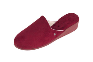 High Heel velvet slip on slipper Red- NEW