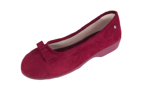 Ballerina ergonomic Velour with small heel Red NEW
