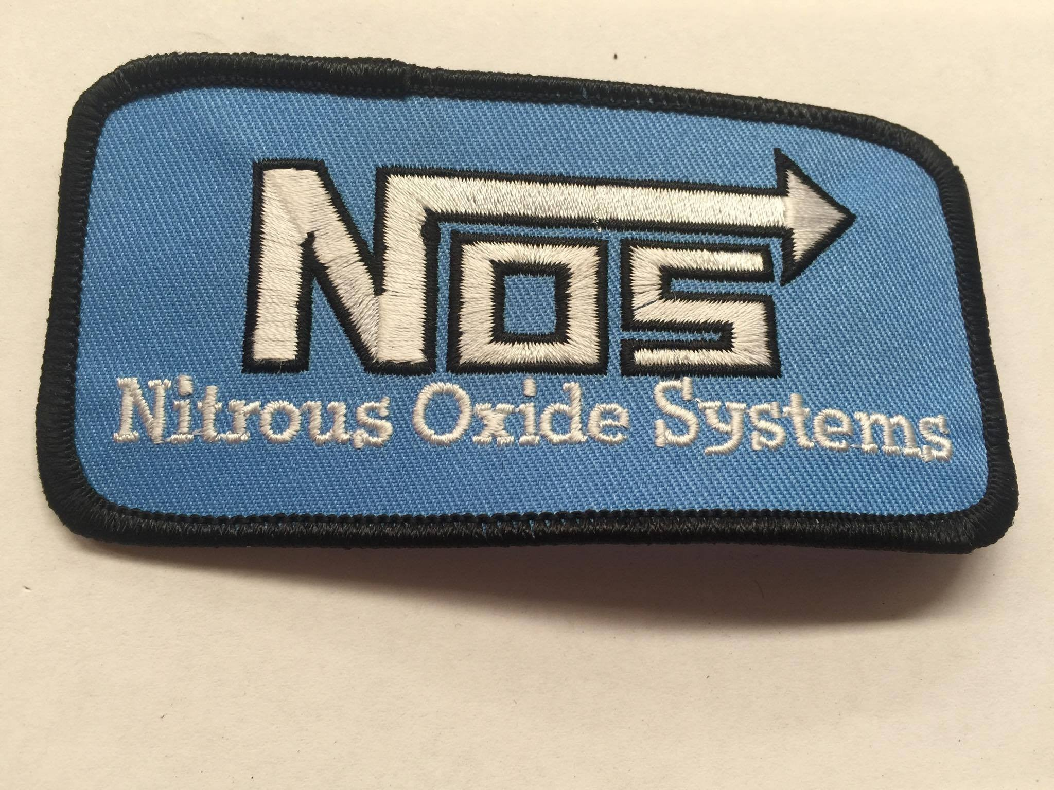 CLOTH PATCHES - Nos Rectangle Blue - Atomic Retro