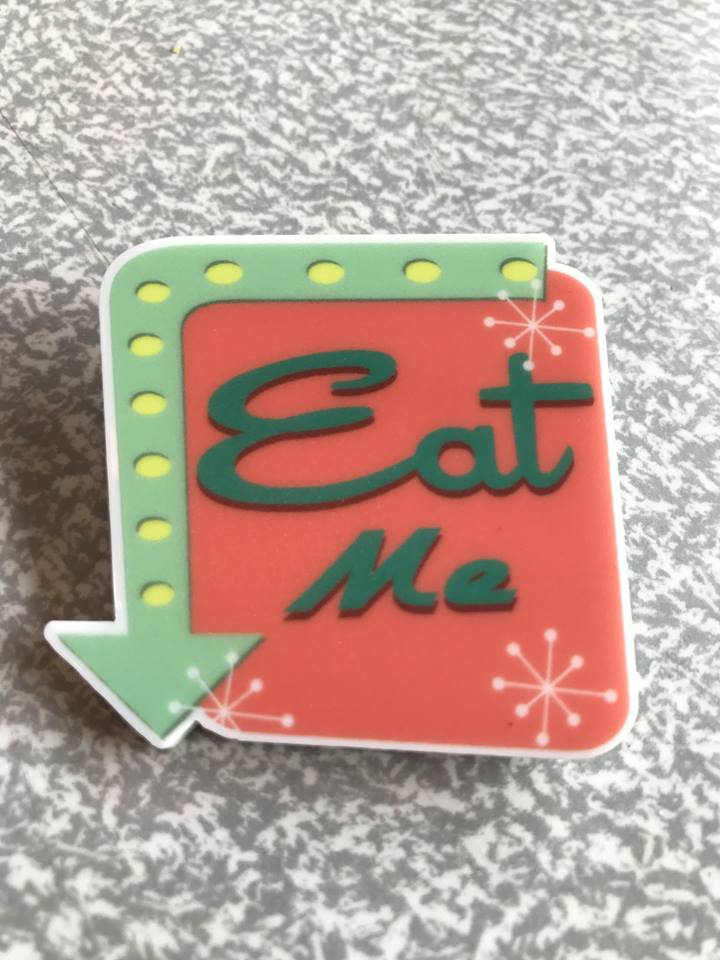 BITCH BROOCHES -  Eat Me - Atomic Retro