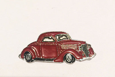LAPEL BADGES / BROOCHES -  Hot Rod 34 Coupe brown