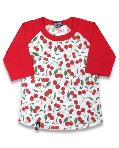 KIDS TOPS - 3/4 Sleeve Cherry Top