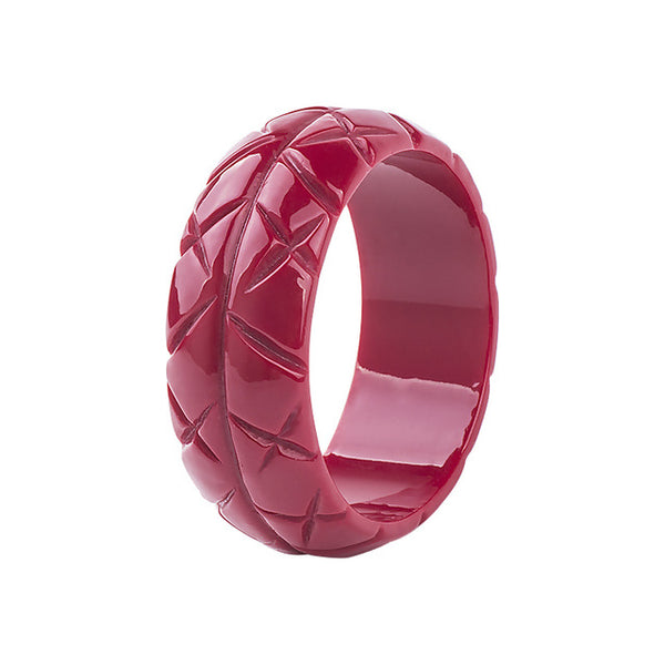 BANGLES - Carved Romantic Thatched - Atomic Retro