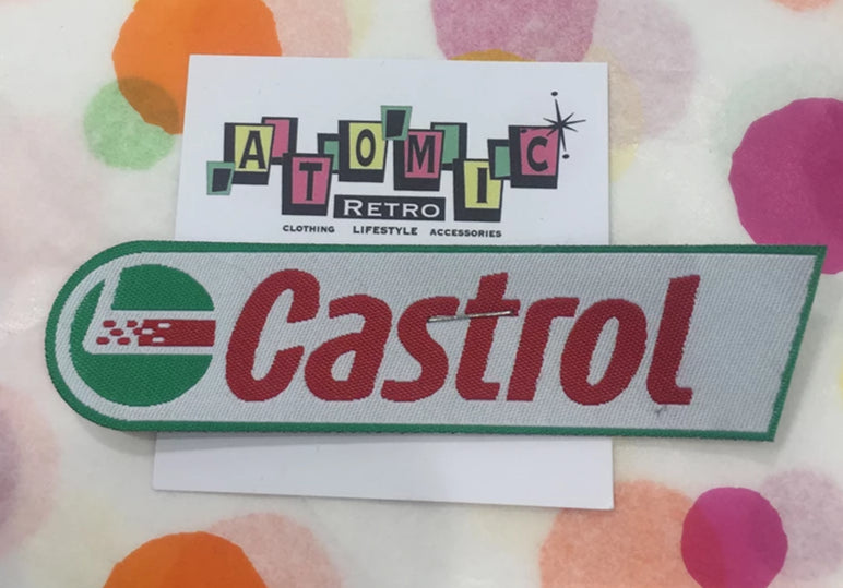 CLOTH PATCHES - Castrol - Atomic Retro