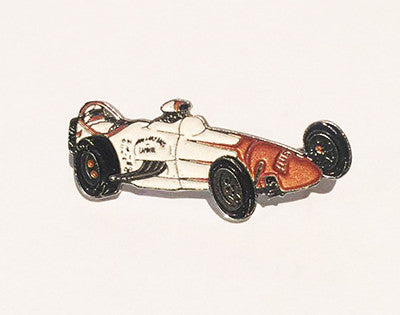 LAPEL BADGES / BROOCHES -  Hot Rod Dragster - white