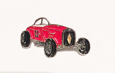 LAPEL BADGES / BROOCHES -  Hot Rod Red Roadster