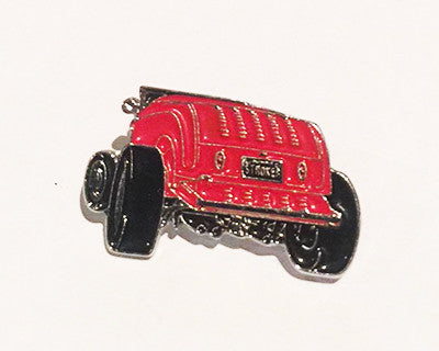 LAPEL BADGES / BROOCHES - Hot Rod Red Rear
