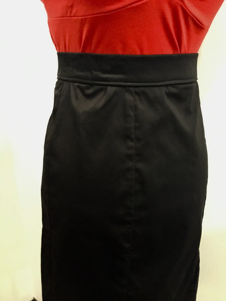 SKIRT - Wiggle Retro Black Pencil skirt
