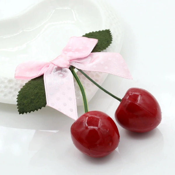 HAIR CLIP - Cherry Bows - Atomic Retro