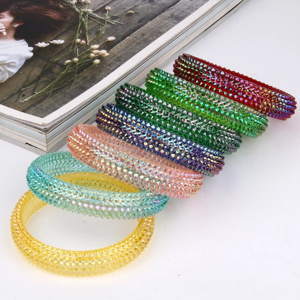 bangle bling coloured sparkle