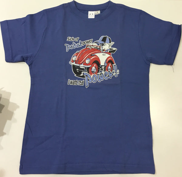 KIDS TEES - Sick of pedal power BLUE