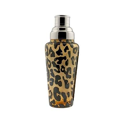 leopard print cocktail shaker glass tiki bar