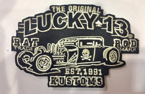 CLOTH PATCH - Lucky13 Rat Rod