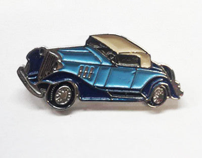 LAPEL BADGES / BROOCHES -  Hot Rod Blue