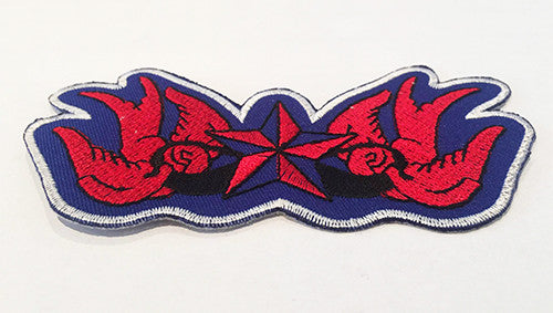 CLOTH PATCHES - Tattoo Swallow and Star - Atomic Retro