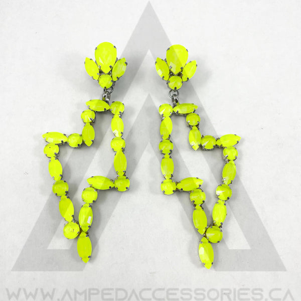 Lightning Bolt Earrings (Multiple Colours Available)