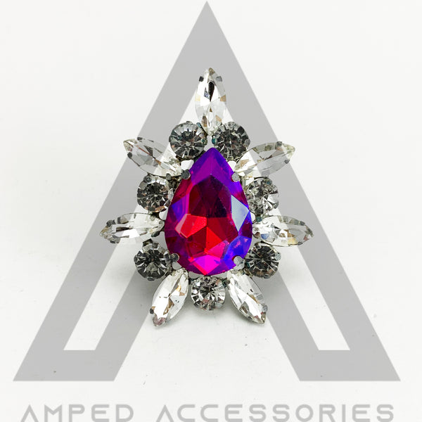 Fuchsia AB & Clear Ring