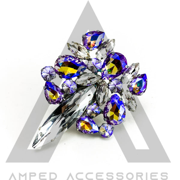 Violet AB & Clear Ring
