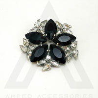 Black & Clear Broach
