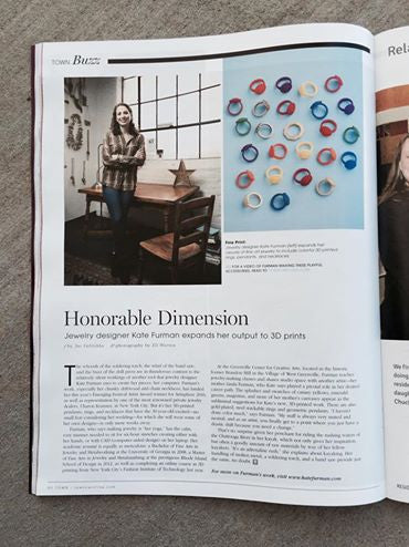 Kate Furman Jewelry featured in Town Magazine