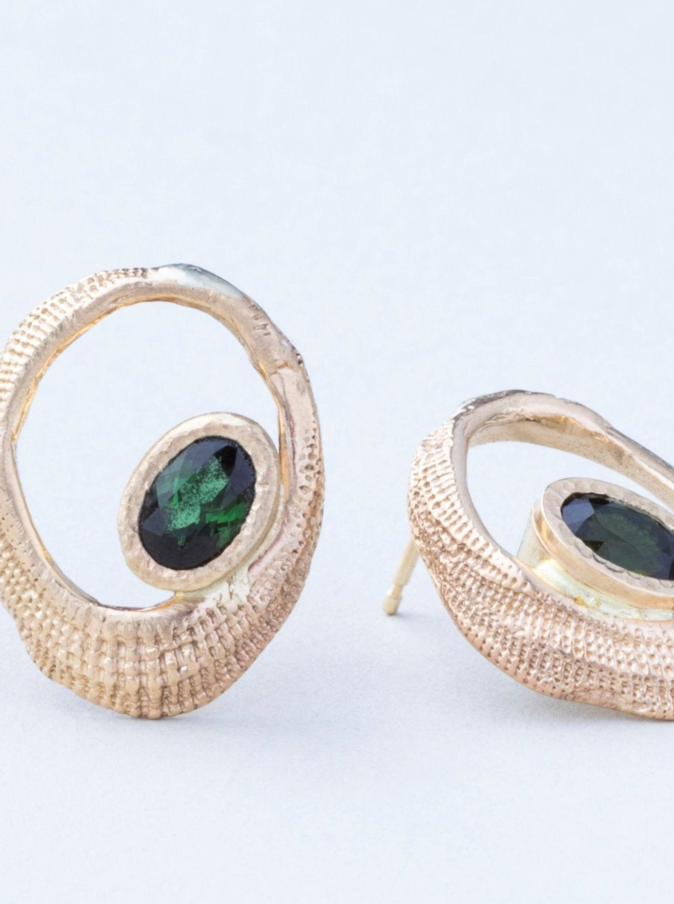 Oval Shells with Tourmalines