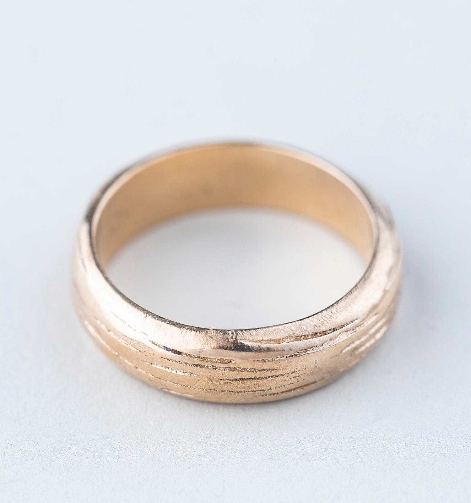 Soft Bark Wedding Band