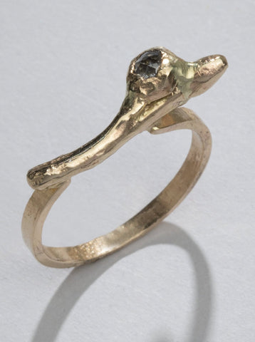 Gold & Diamond Twig Ring (One of a Kind)