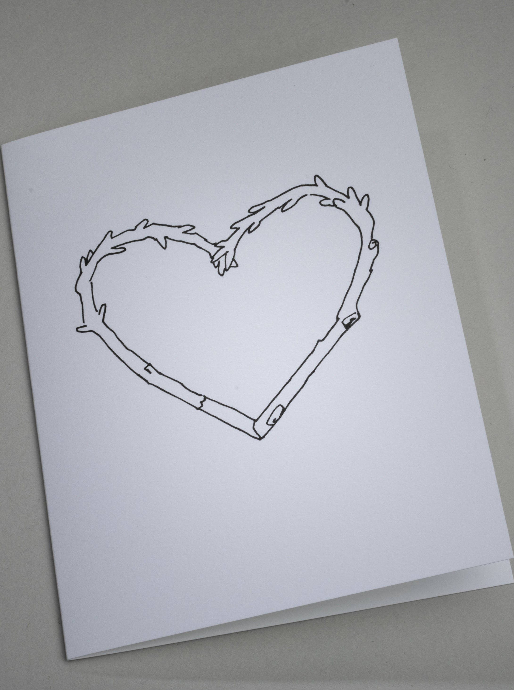 Twig Heart Notecard