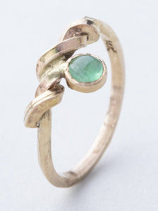 Emerald and Twisting Gold (One of a Kind)